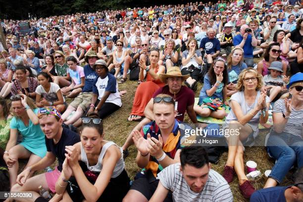 General view of the crowd on Day 4 of Latitude Festival at Henham Park Estate on July 16 2017 in Southwold England