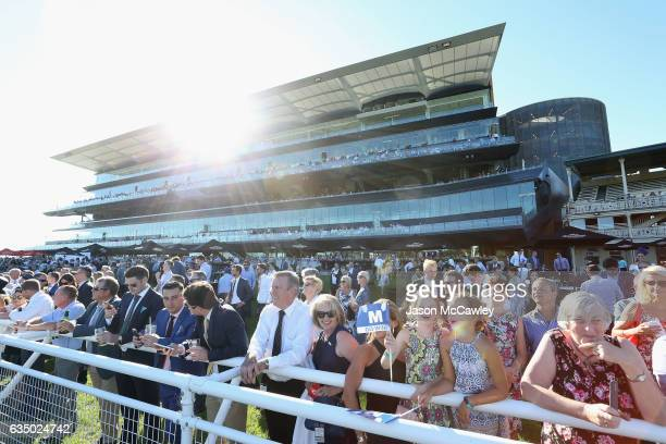 A general view of the crowd taken at 444pm prior to the Apollo Stakes at Royal Randwick Racecourse on February 13 2017 in Sydney Australia