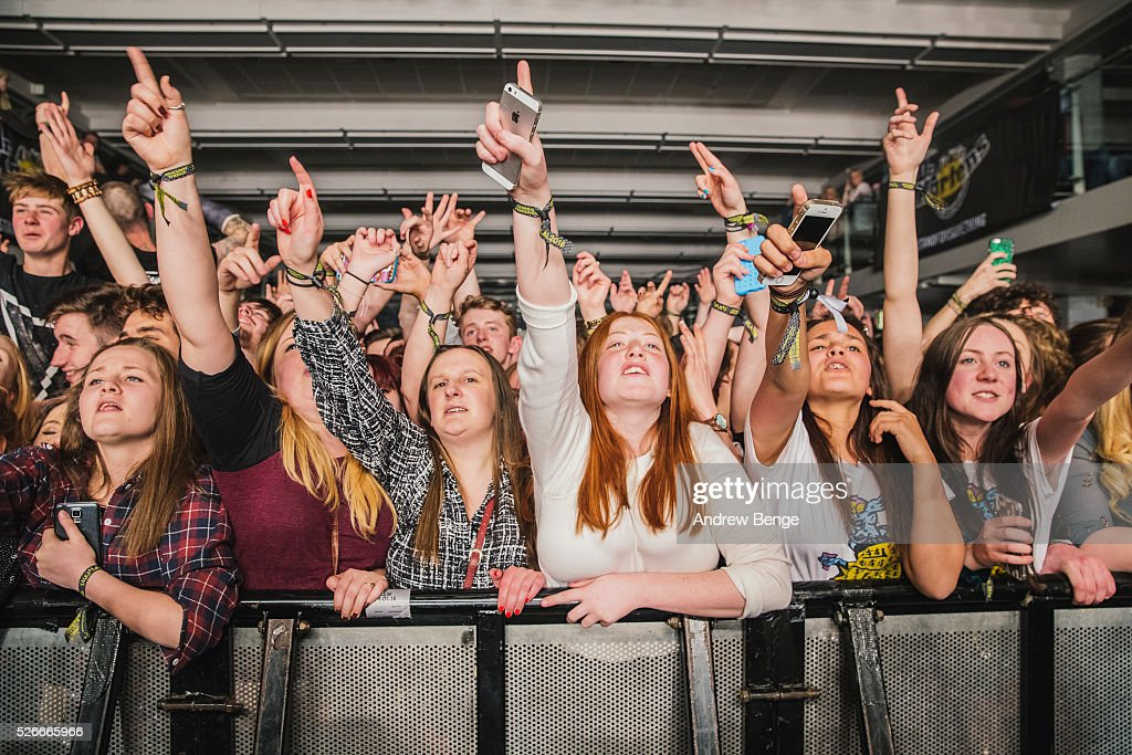 General view of the crowd whilst Circa Waves perform at The Refectory during Live At Leeds on April 30, 2016 in Leeds, England.