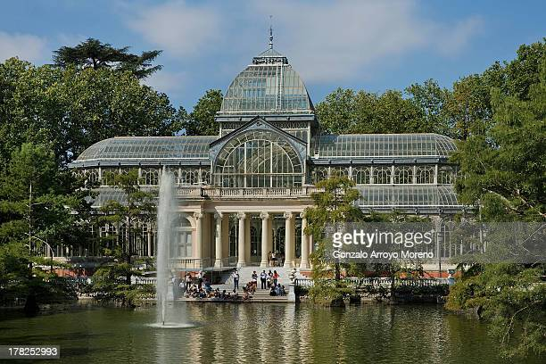General view of the Crystal Palace at Retiro Park on August 26 2013 in Madrid Spain Along with Istanbul and Tokyo Madrid is one of the candidate...