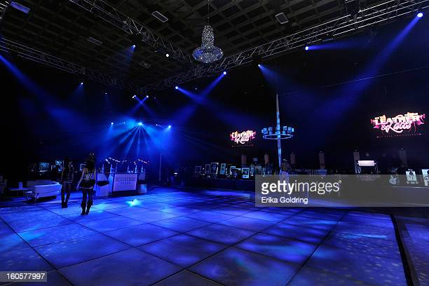 A general view of the dance floor at the Tenth Annual Leather Laces Super Bowl Party on February 2 2013 in New Orleans Louisiana