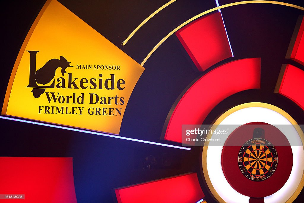 A general view of the dart board during the BDO Lakeside World Professional Darts Championships on Day Nine at The Lakeside Country Club on January...