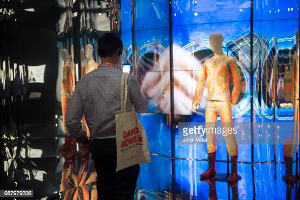 General view of the 'David Bowie Is' exhibition press preview at Museu Del Disseny on May 24 2017 in Barcelona Spain
