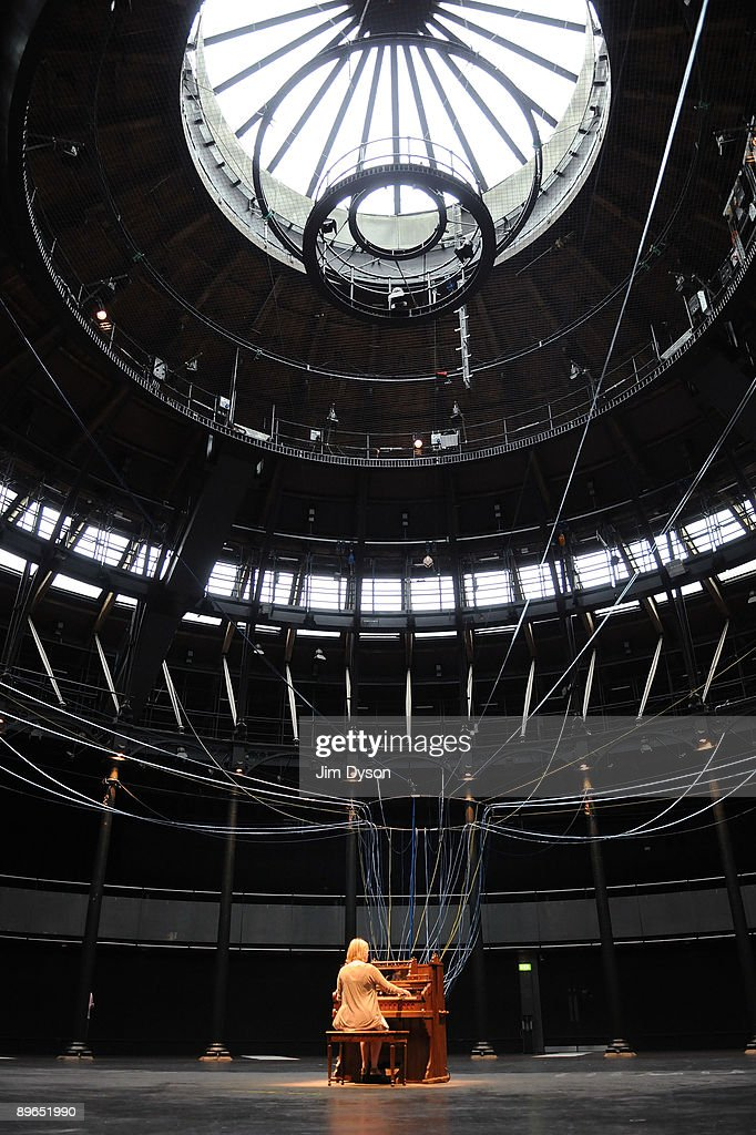 A general view of the David Byrne installation 'Playing the Building' at the Camden Roundhouse on August 7 2009 in London England The Roundhouse...