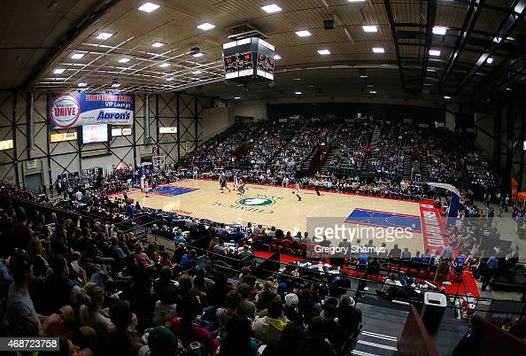 General view of the Deltaplex Arena during a NBA Development League game between the Erie BayHawks and the Grand Rapids Drive on April 3 2015 at the...
