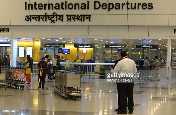 A general view of the departure hall at Terminal 3 of Indira Gandhi International airport in New Delhi on November 5 2014 AFP PHOTO/ Prakash SINGH