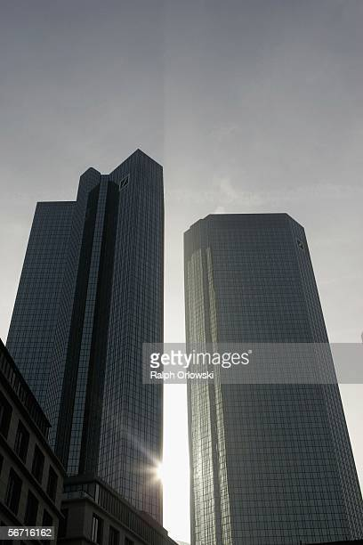 A general view of the Deutsche Bank logo is pictured in front of their headquarters on February 2 2006 in Frankfurt Germany The bank is set to...