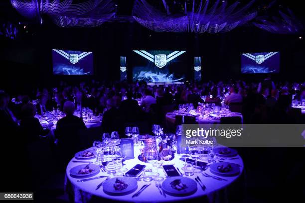 A general view of the dining room is seen during the New South Wales State of Origin team announcement at The Star on May 22 2017 in Sydney Australia