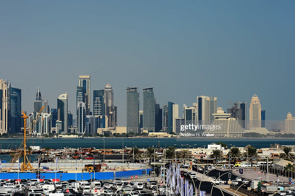 A general view of the Doha skyline during the 2012 Doha Tribeca Film Festival at on November 17, 2012 in Doha, Qatar.
