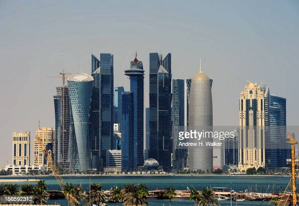 A general view of the Doha skyline during the 2012 Doha Tribeca Film Festival at on November 17 2012 in Doha Qatar