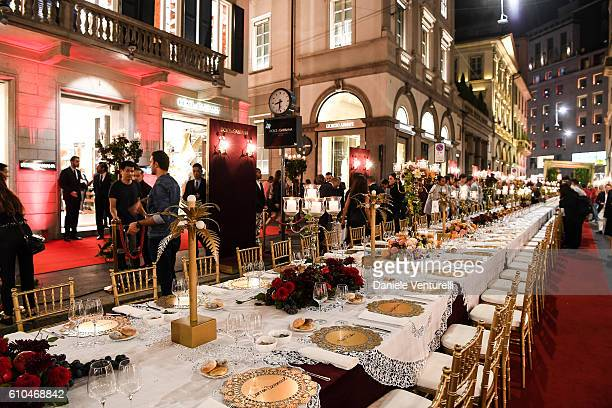 General view of the DolceGabbana Boutique Opening Event during Milan Fashion Week Spring/Summer 2017 on September 25 2016 in Milan Italy