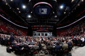 A general view of the draft floor during the second day of the 2009 NHL Entry Draft at the Bell Centre on June 27 2009 in Montreal Quebec Canada