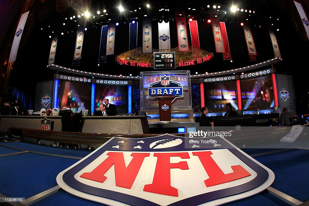 A general view of the draft stage during the 2011 NFL Draft at Radio City Music Hall on April 28, 2011 in New York City.