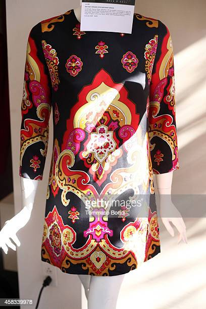 A general view of the dress worn by Britney Spears to her 25th birthday at the Julien's auctions media preview for Icons Idols Rock N' Roll event...