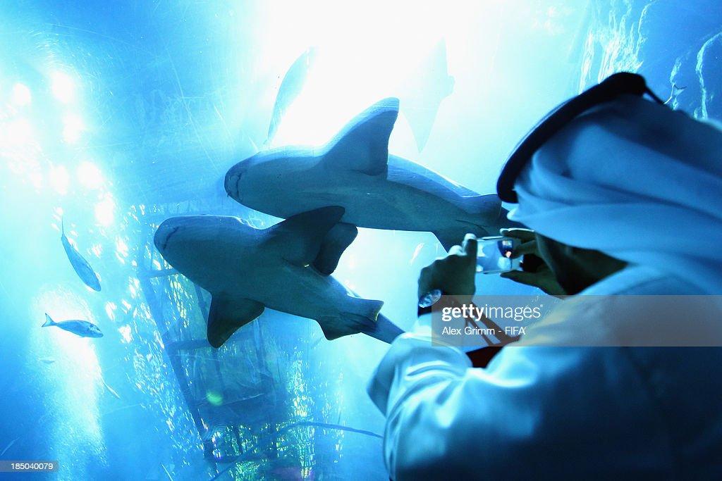 General view of the Dubai Aquarium ahead of the FIFA U-17 World Cup UAE 2103 on October 17, 2013 in Dubai, United Arab Emirates.