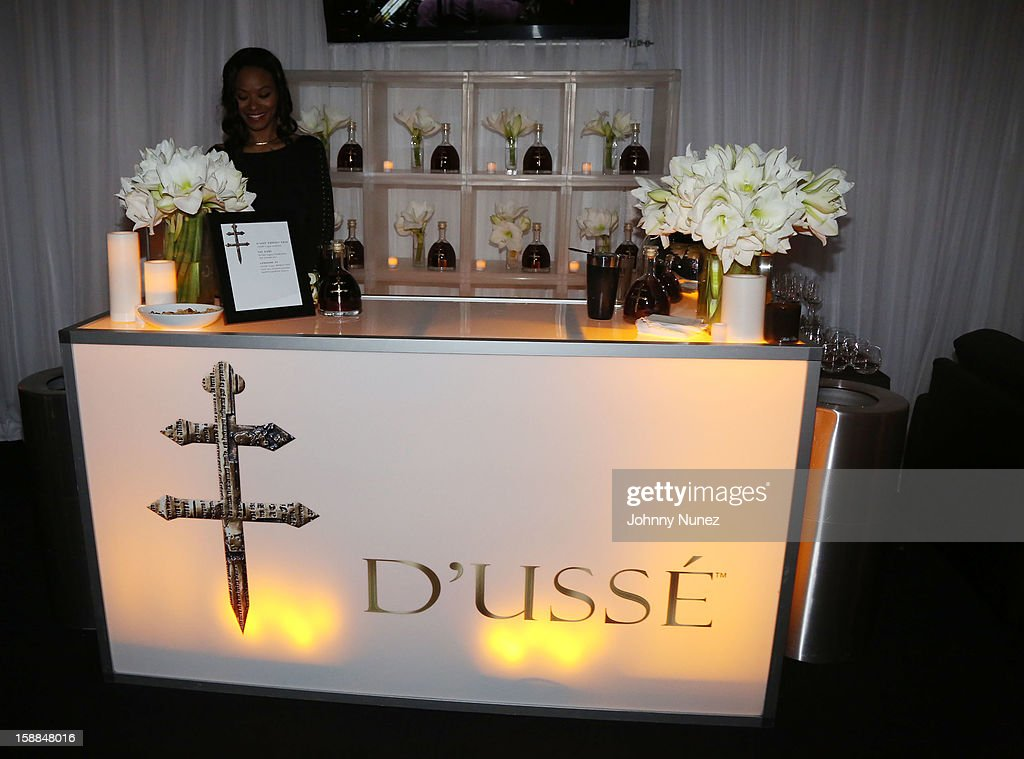 A general view of the D'usse Lounge at Barclays Center on December 31, 2012 in the Brooklyn borough of New York City.