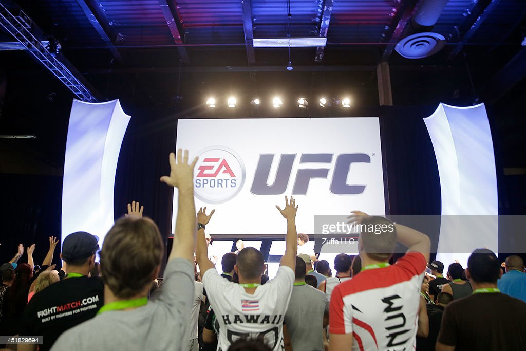 A general view of the EA Sports UFC game presentation on the main stage during the UFC Fan Expo 2014 during UFC International Fight Week at the...