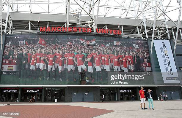 A general view of the East Stand at Old Trafford on July 14 2014 in Manchester England