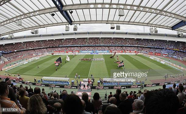 General view of the easyCredit stadium prior to the Bundesliga match between 1 FC Nuernberg and FC Schalke 04 at the Easy Credit stadium on May 17...
