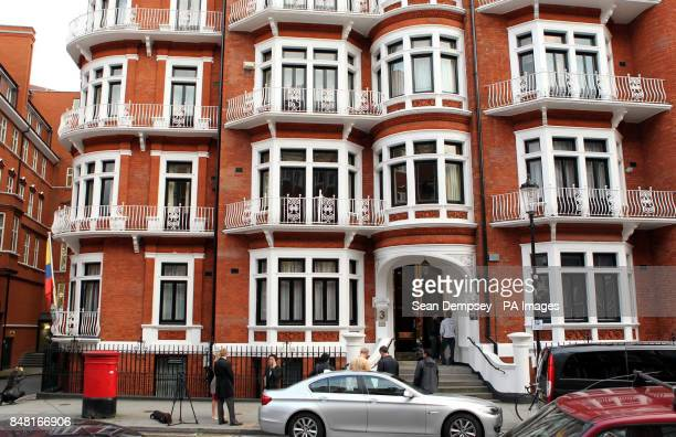A general view of the Ecuadorian Embassy in London where WikiLeaks founder Julian Assange sought political asylum after failing in his bid to avoid...