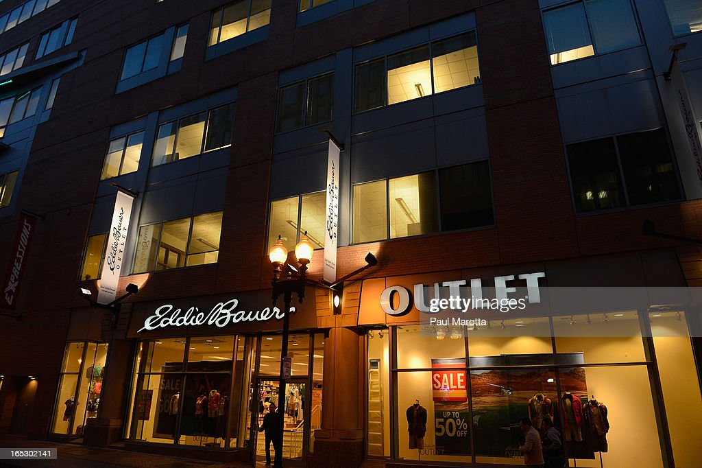 A general view of the Eddie Bauer Outlet store in Downtown Crossing on April 2, 2013 in Boston.