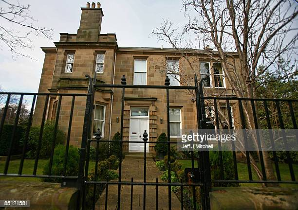 A general view of the Edinburgh home of the former chief executive of Royal Bank of Scotland Sir Fred Goodwin on February 26 2009 in Scotland RBS...