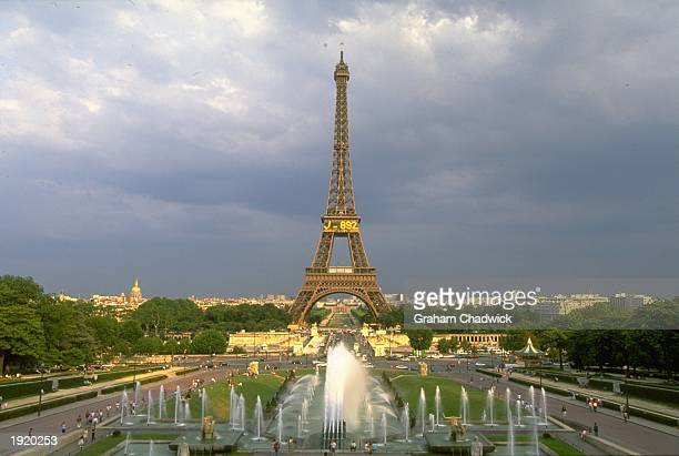 General view of the Eiffel Tower in Paris France is the venue for the 1998 World Cup Mandatory Credit Graham Chadwick/Allsport