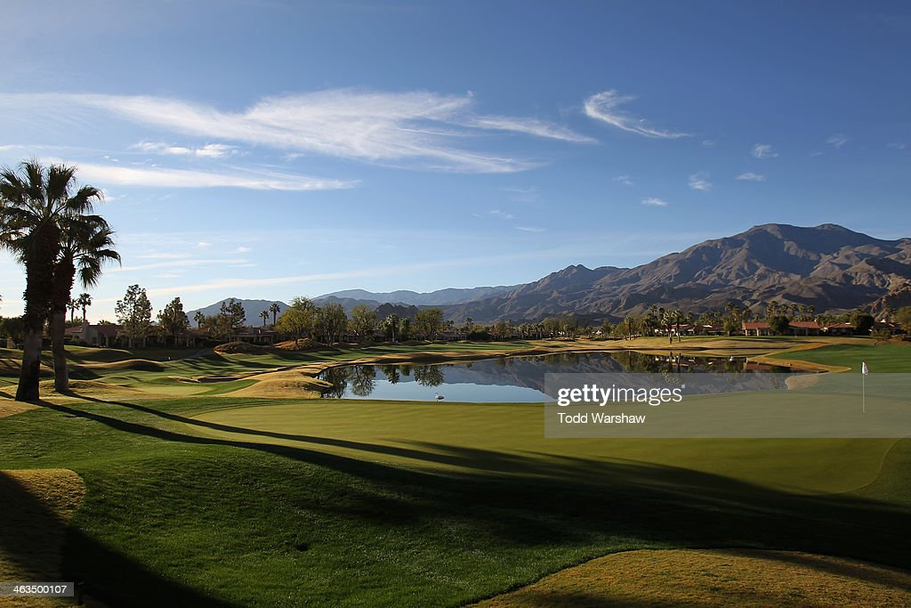 A general view of the eighteenth hole during the third round of the Humana Challenge in partnership with the Clinton Foundation on the Jack Nicklaus...