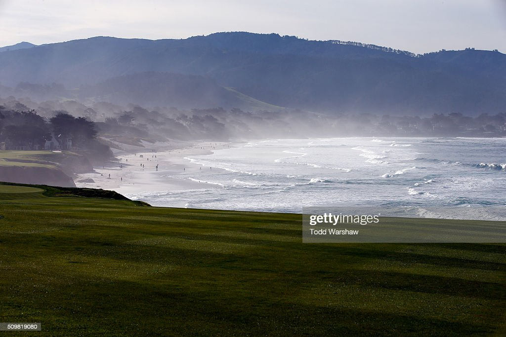 A general view of the eighth fairway during the second round of the AT&T Pebble Beach National Pro-Am at the Pebble Beach Golf Links on February 12, 2016 in Pebble Beach, California.