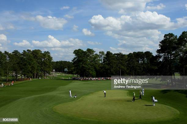 A general view of the eighth green during the second round of the 2008 Masters Tournament at Augusta National Golf Club on April 11 2008 in Augusta...