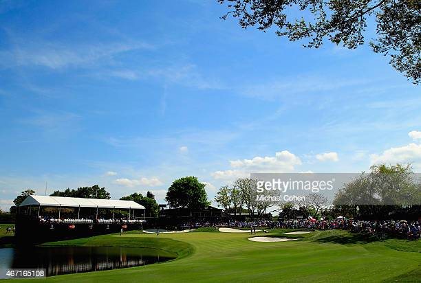 A general view of the eighth green is seen during the third round of the Arnold Palmer Invitational Presented By MasterCard at the Bay Hill Club and...