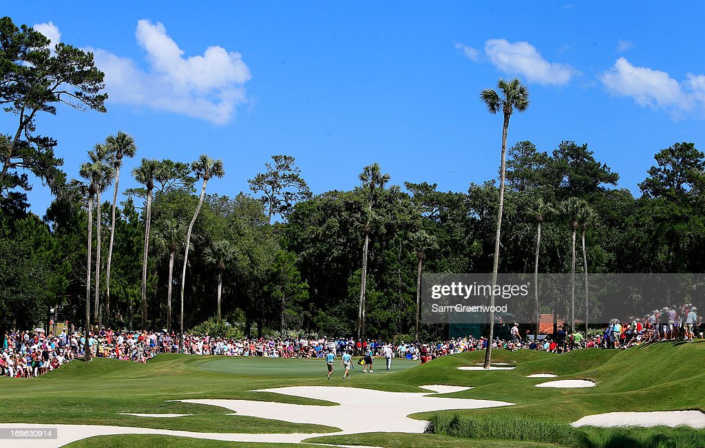 A general view of the eighth hole during the final round of THE PLAYERS Championship at THE PLAYERS Stadium course at TPC Sawgrass on May 12, 2013 in Ponte Vedra Beach, Florida.