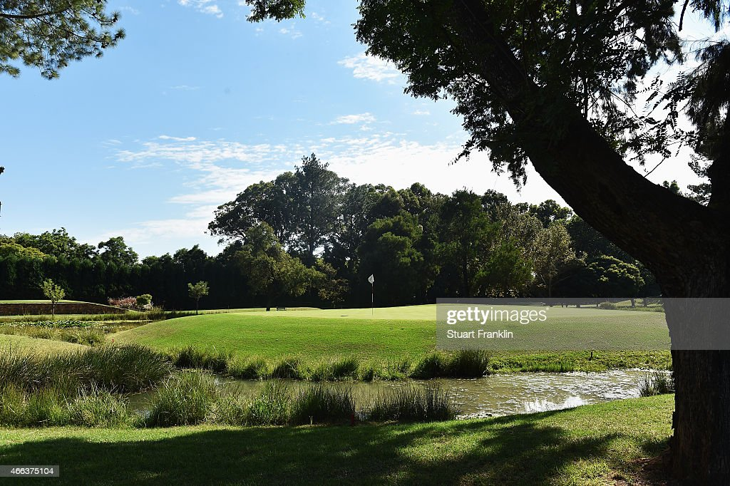 A general view of the eighth hole during the final round of the Tshwane Open at Pretoria Country Club on March 15 2015 in Pretoria South Africa