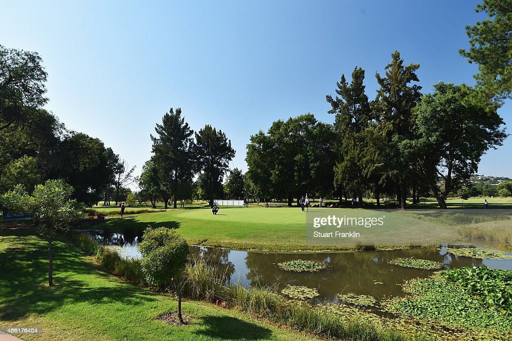 A general view of the eighth hole during the third round of the Tshwane Open at Pretoria Country Club on March 14 2015 in Pretoria South Africa