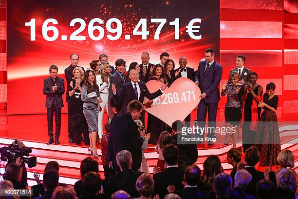 A general view of the Ein Herz Fuer Kinder Gala 2014 Show on December 6 2014 in Berlin Germany