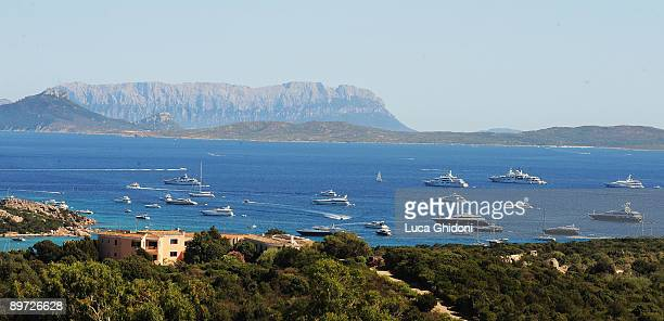 A general view of the Emerald coast on August 4 2009 in Porto Cervo Italy