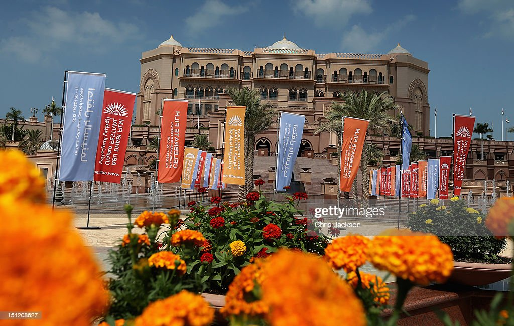 A general view of the Emirates Palace Hotel on day five of the Abu Dhabi Film Festival 2012 at Emirates Palace on October 15, 2012 in Abu Dhabi, United Arab Emirates.