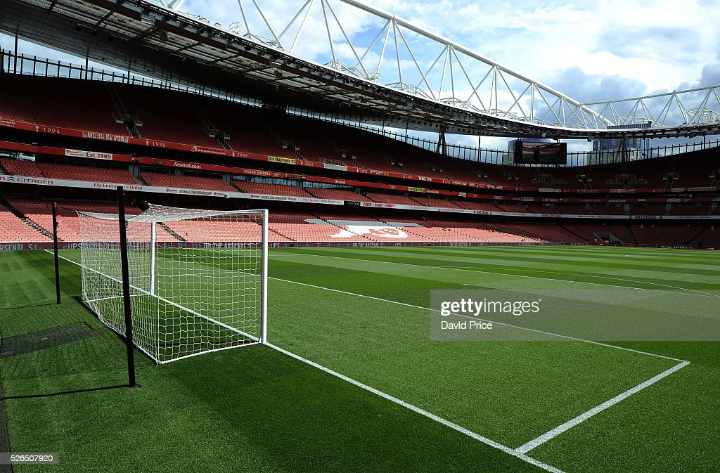 A general view of the Emirates Stadium before the Barclays Premier League match between Arsenal and Norwich City at on April 30th, 2016 in London, England