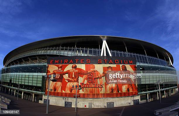 A general view of the Emirates Stadium home of Arsenal Football Club on February 24 2011 in London England
