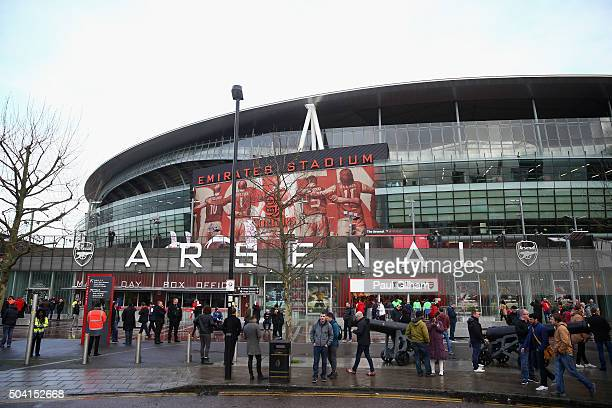 A general view of the Emirates Stadium prior to the Emirates FA Cup Third Round match bewtween Arsenal and Sunderland at Emirates Stadium on January...