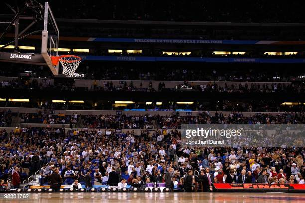 A general view of the empty court from a side view as the Butler Bulldogs play against the Duke Blue Devils during the 2010 NCAA Division I Men's...
