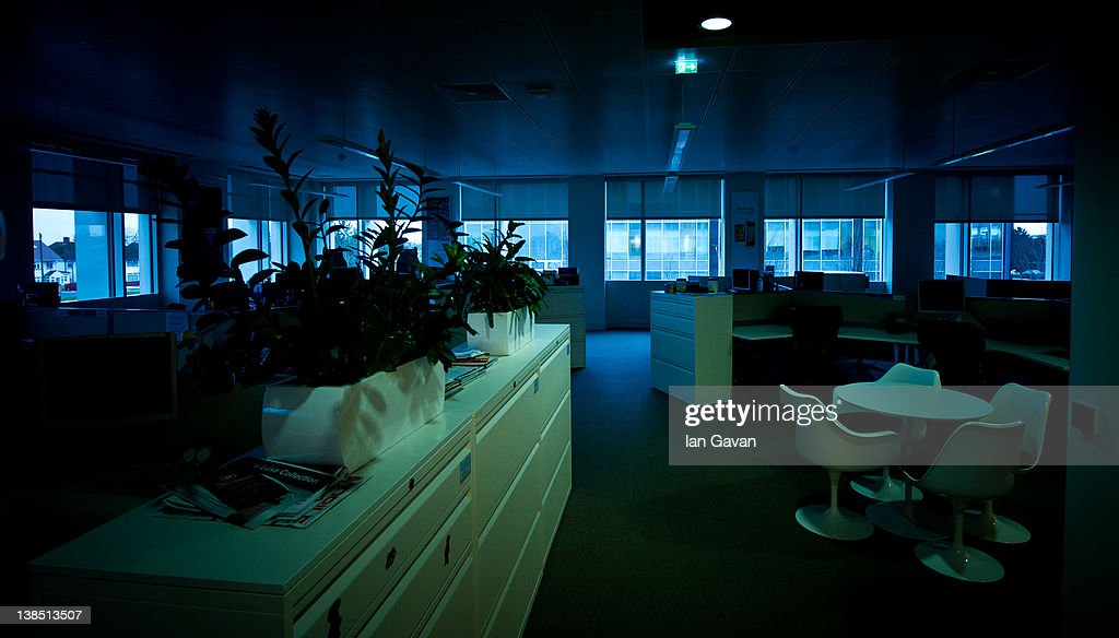 General view of the empty O2 offices during their flexible working pilot scheme on February 8, 2012 in Slough, England. O2 announced the launch of the biggest flexible working initiative of its kind. Today, employees based at the O2 Slough HQ, a quarter of its 12,000 strong workforce will participate in a flexible working pilot, operating remotely for the day as the doors are shut and lights turned off at the business' 200,000 sq ft office.