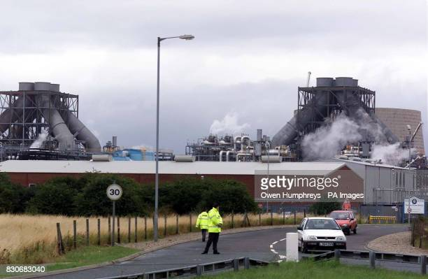 A general view of the Enron plant in Redcar Teesside where two people died and two others seriously injured in a blast at the power station emergency...