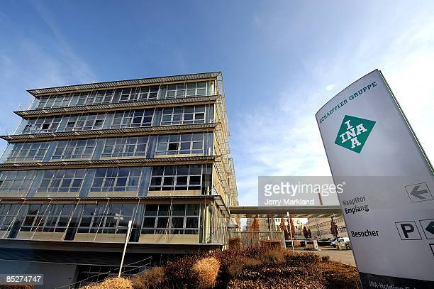 General view of the entrance of the headquarters of the Schaeffler Group on March 4 2009 in Herzogenaurach Germany