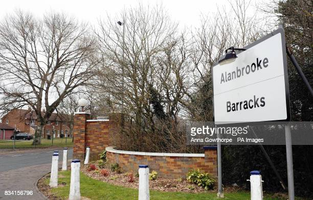 A general view of the entrance to Alanbrooke Army Barracks near Thirsk after a 10yearold girl was bitten in the face by a Staffordshire bull terrier