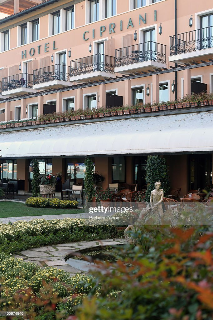 General view of the entrance to the Belmond Hotel Cipriani at Giudecca Island on September 23, 2014 in Venice, Italy. George Clooney is set to marry his lawyer fiancee Amal Alamuddin this weekend in Venice where they met after it was previously thought they would marry on Lake Como where the actor has a home.