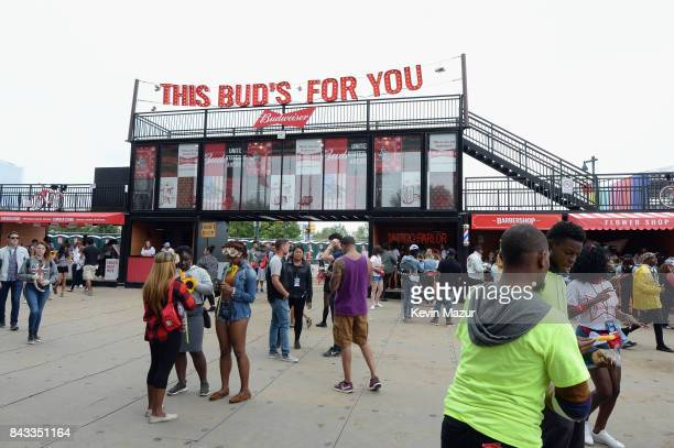 A general view of the entrance to the Bud Block area during 2017 Budweiser Made in America Day 1 at Benjamin Franklin Parkway on September 2 2017 in...