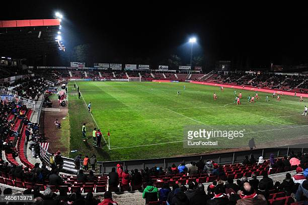 A general view of the Estadia Montilivi stadium during the Spanish Segunda Division match between Girona FC and SD Eibar at the Estadia Montilivi on...