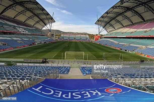 General view of the estadio Algarve prior to the UEFA EURO 2016 Qualifier between Gibraltar and Republic of Ireland at Estadio Algarve on September 4...