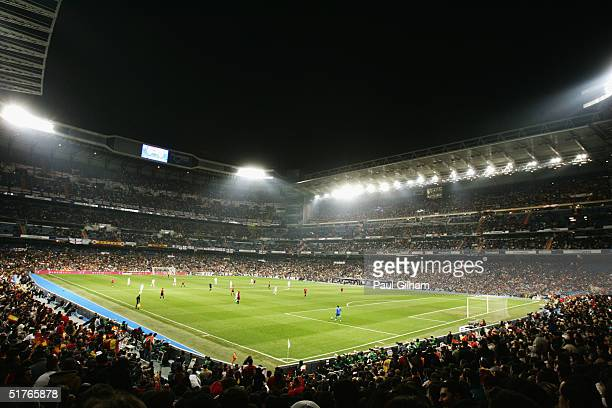 A general view of the Estadio Bernabeu during the international friendly match between Spain and England on November 17 2004 at the Estadio Bernabeu...